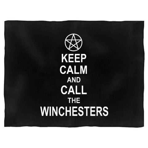 Supernatural Keep Calm And Call The Winchesters Tv Series Graphic Blanket