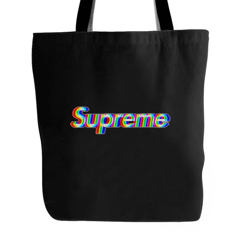 Supreme Box Logo Rainbow Tote Bag