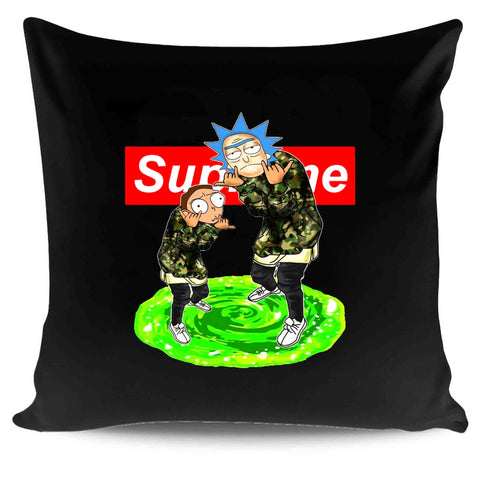 Supreme Rick And Morty Logo Box Green Portal Anime Pillow Case Cover