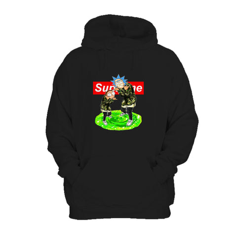 Supreme Rick And Morty Logo Box Green Portal Anime Hoodie
