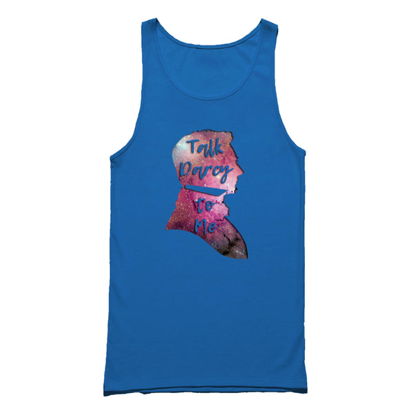 Talk Darcy To Me Funny Bookworm For Her Jane Austen Mr Darcy Pride And Prejudice Reader Gift Unique Tank Top