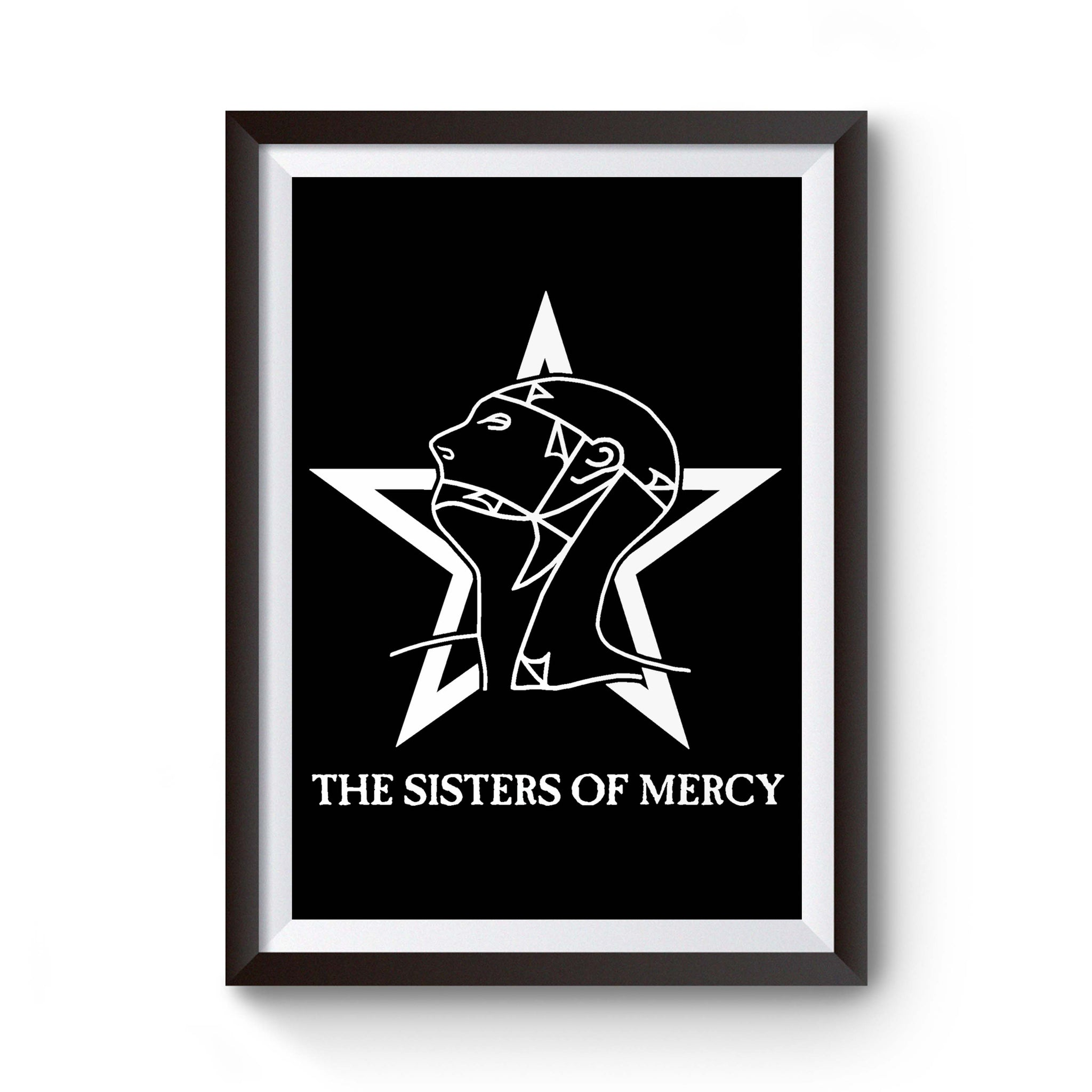 The Sisters Of Mercy Post Punk Doom Gothic Metal Concert Rock Poster