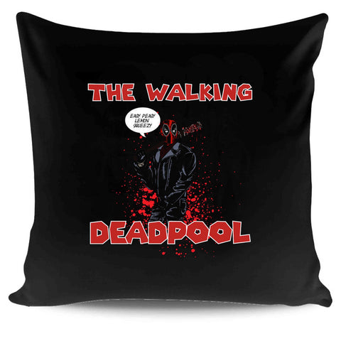 The Walking Deadpool Funny Mashup Scifi Novelty Humor Nerdy Pop Culture Gift Negan The Saviors Easy Peasy Pillow Case Cover