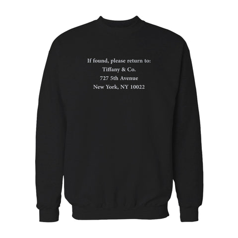 Tiffany & Co 5th Avenue I'm Moving Sweatshirt