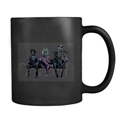 Tim Burton Cast Beetlejuice Edward Scissorhands And Jack Skellington Movieart Mug
