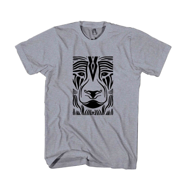 Tribal Lion Maori Native Polynesian Tattoo Art Goa Burning Man Festival Psy Techno Ethnic Boho Man's T-Shirt