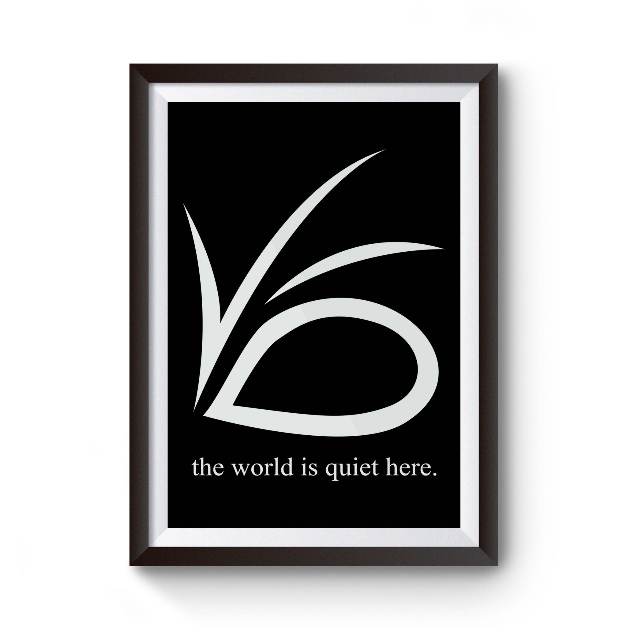 Vfd Motto Snicket Lemony Series Of Unfortunate Events Baudelaire Count Laf Eye World Is Quiet Here Gift Poster