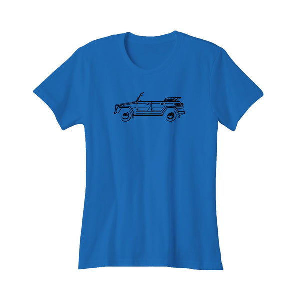 Volkswagen The Thing Convertible Lights Of Art Great Vw German Classic Car Gift Women's T-Shirt