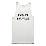 Wild Child French Quote Typography Tank Top