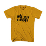 Will Run For Beer Funny Running Man's T-Shirt