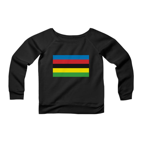 World Cycling Championship Uci Bicycle CPY Womans Wide Neck Sweatshirt Sweater