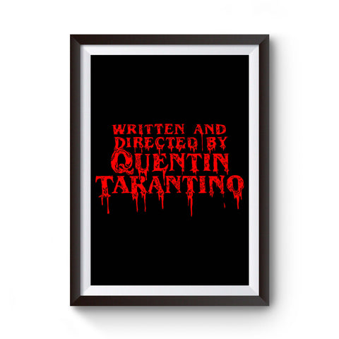 Written By Quentin Tarantino Horror Cinema Poster
