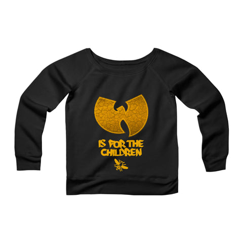 Wu-Tang Is For The Children CPY Womans Wide Neck Sweatshirt Sweater