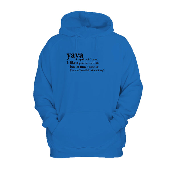 Yaya Definition Of A Grandmother Birthday Mothers Day Cute Gift Hoodie