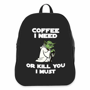 Yoda Lovers 11 0z Star Wars Coffee Gift Darth Vader Funny CPY School Backpacks Bag