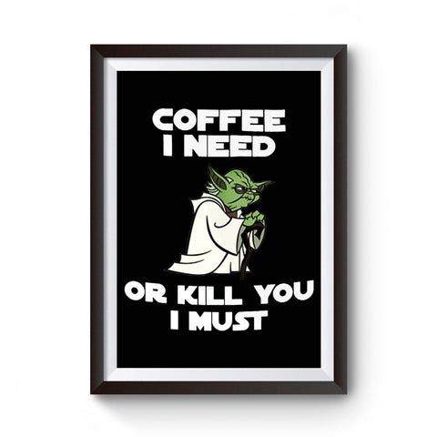 Yoda Lovers 11 0z Star Wars Coffee Gift Darth Vader Funny Poster