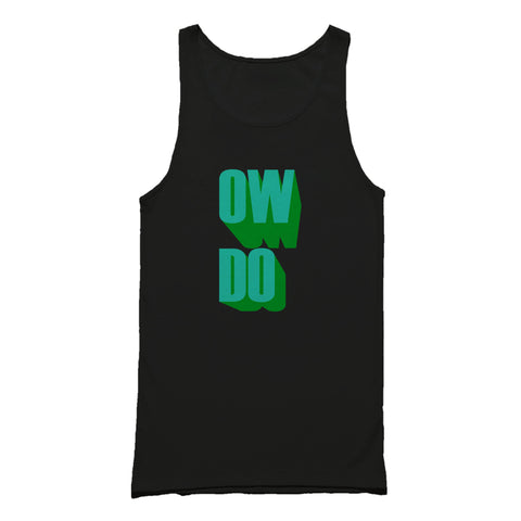 Yorkshire Slang Ow Do Male Graphic Tank Top