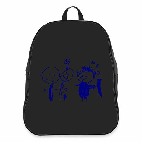 Your Child Drawing Gift For Grandmother Own Drawing CPY School Backpacks Bag