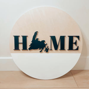 "12"" Home NL Round Sign"