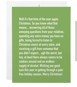 """Annoying Christmas"" Card"