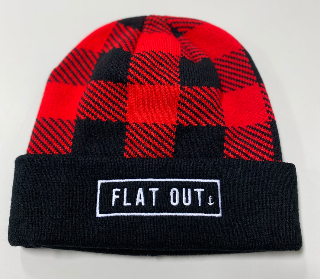 """Flat Out"" Plaid Beanie"