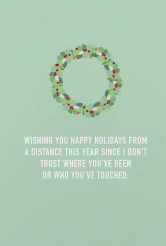 """Distance Holidays"" Card"