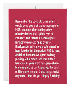 """Birthday VHS"" Card"