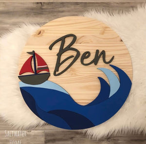 "24"" Custom Round Wood Sign"
