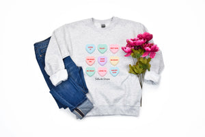 """Candy Heart"" Crewneck Sweatshirt"