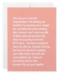 """Wedding"" Card"