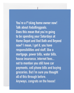 """Home Owner"" Card"