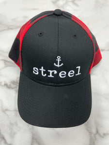 """Streel"" Plaid Baseball Hat"