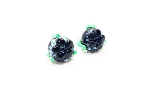 Glass Newfoundland Blueberry Studs