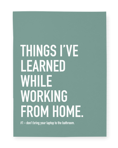"""Working From Home"" Notebook"