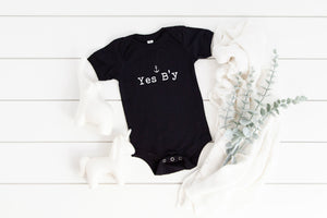 """Yes B'y"" (Across Chest Logo) Baby/Youth Shirt"