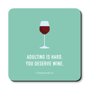 """Adulting is Hard"" Coaster"