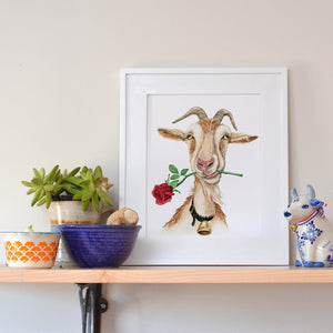 """Romantic Old Goat"" Print"