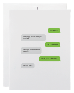 """Dad Text"" Card"