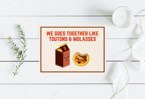 """Toutons and Molasses"" Greeting Card"
