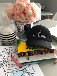 """Lil' Trout"" Toddler Baseball Hat"
