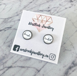 """Hard Ticket"" Stud Earrings"