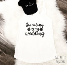 "Ladies ""Sweating For The Wedding"" Tank top"