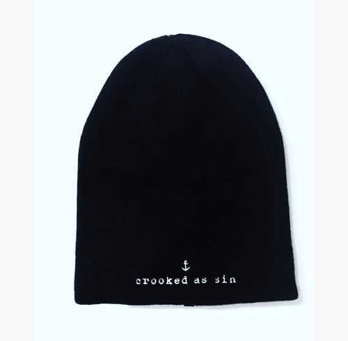 Crooked As Sin Slouchy Beanie