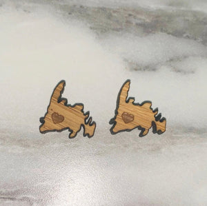 Newfoundland Wooden Stud Earrings