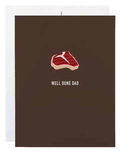"""Well Done Dad"" Card"
