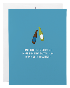 """Dad Beer Together"" Card"