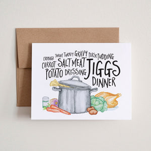 """Jiggs Dinner"" Greeting Card"
