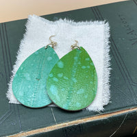water spot teardrop earrings