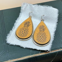 pineapple teardrop earrings