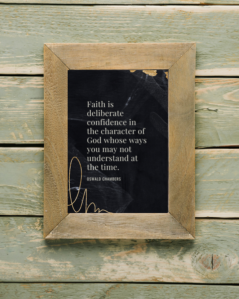 faith is deliberate printable